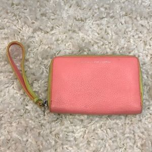 Marc by Marc Jacobs pink & yellow wristlet